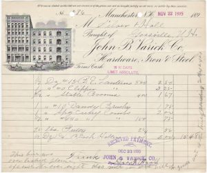 A fancy billhead receipt, dated 1895
